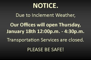 01-17-2018 Hours Due to Inclement Weather
