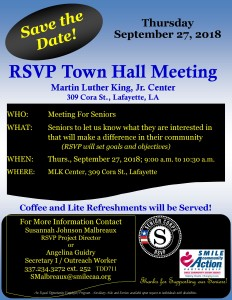 RSVP Town Hall Save the Date 09-27-2018